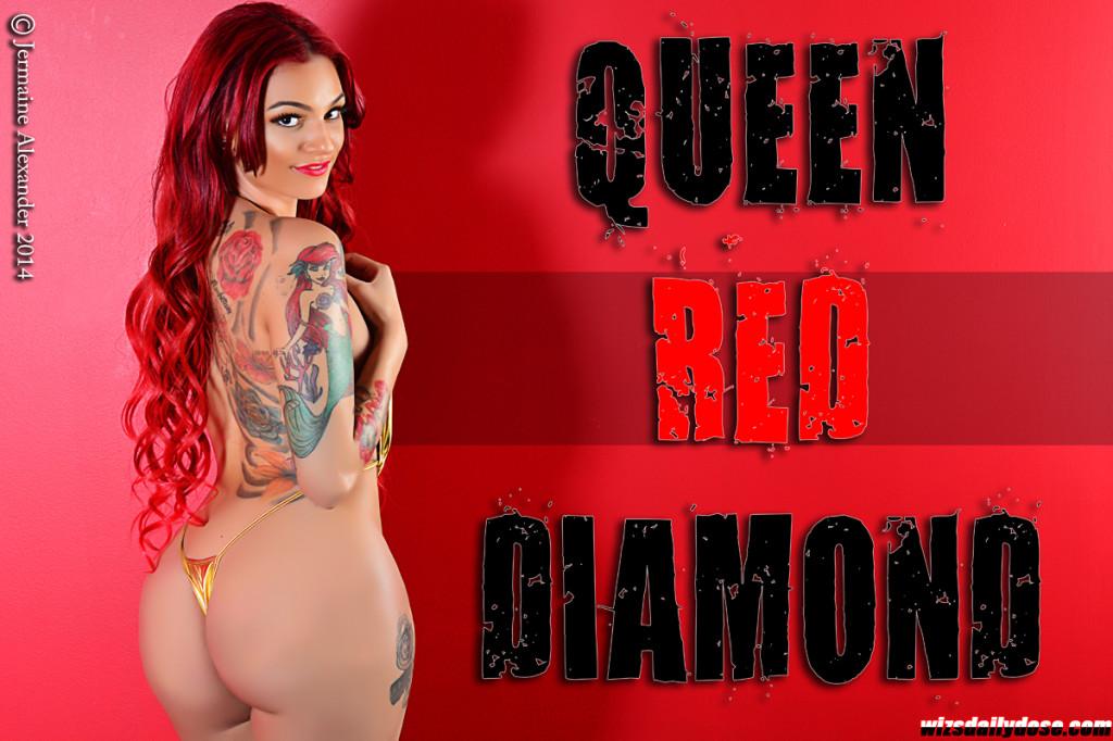 Queen Red Diamond2 J Alexander.thewizsdailydose