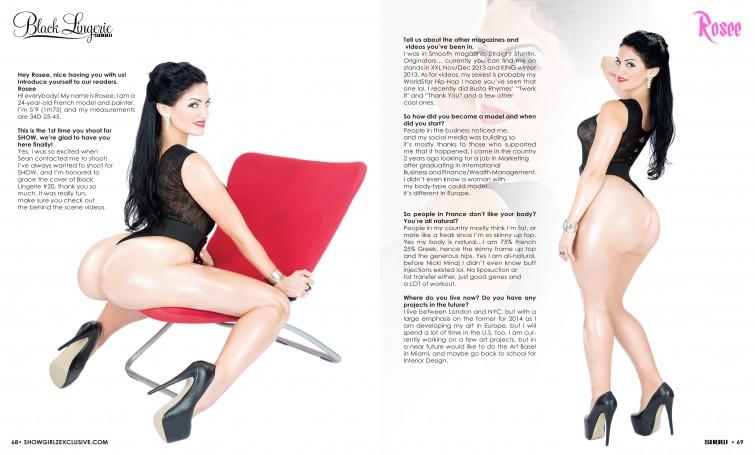 Rosee show magazine Black Lingerie 002