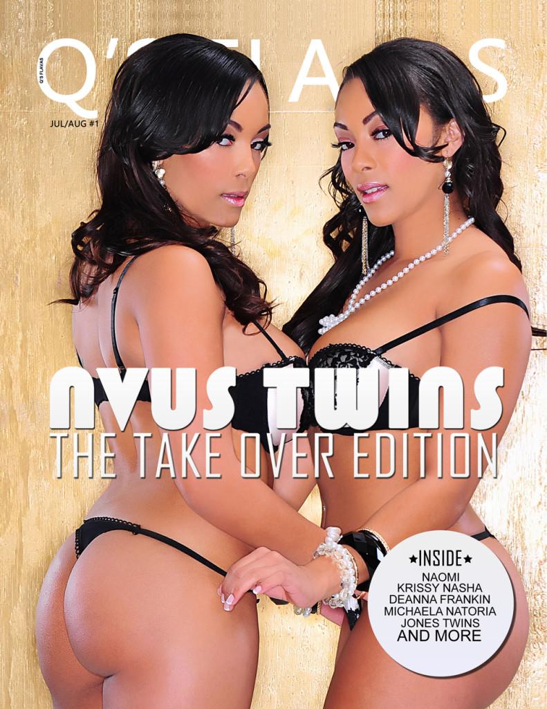 Q's Flavas magazine Cover NVUS Twins