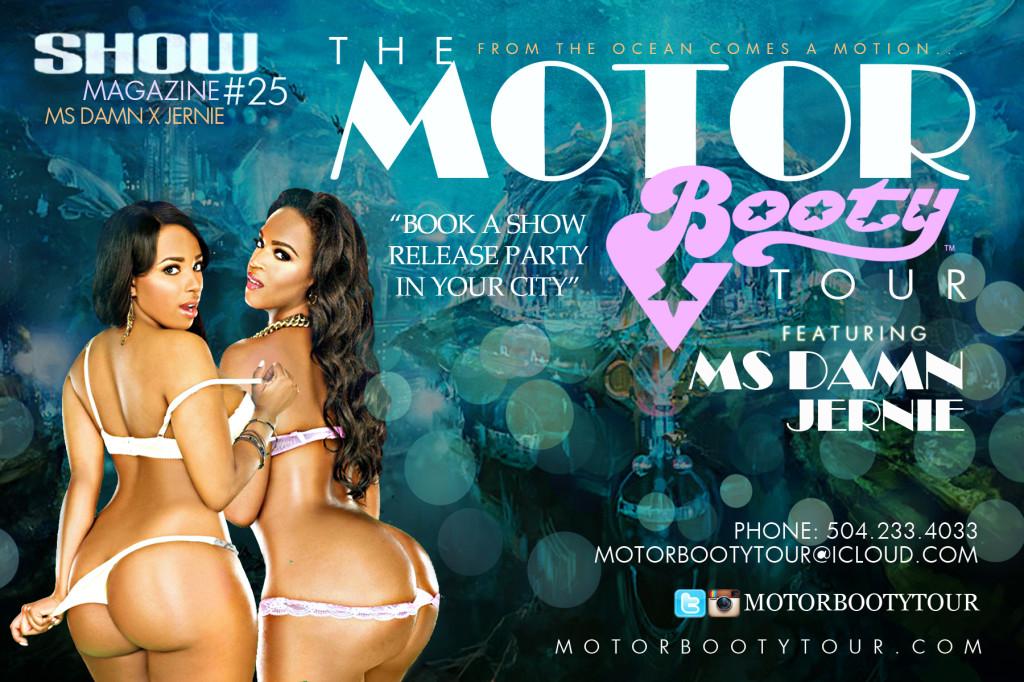 PurplecitydreamGirls.net motor booty tour Ms Damn and Model Jernie Show Magazine web promotion.thewizsdailydose