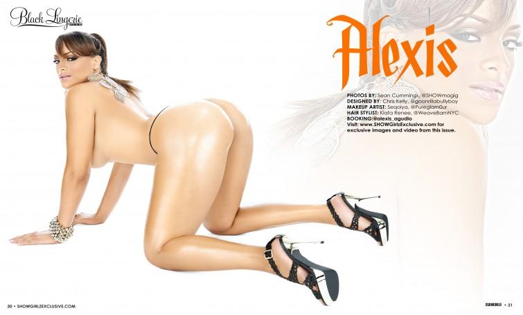 Alexis Agudio show magazine black lingerie 001.thewizsdailydose