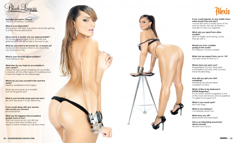 Alexis Agudio show magazine black lingerie 002.thewizsdailydose